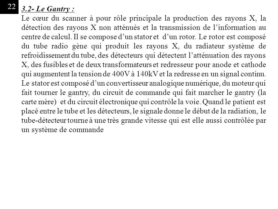 3.2- Le Gantry :