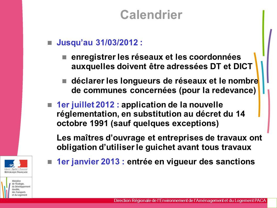 Calendrier Jusqu'au 31/03/2012 :