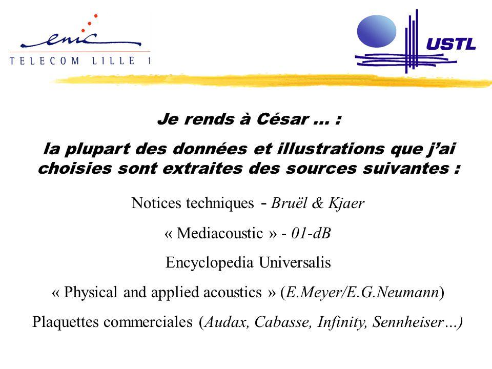 Notices techniques - Bruël & Kjaer « Mediacoustic » - 01-dB