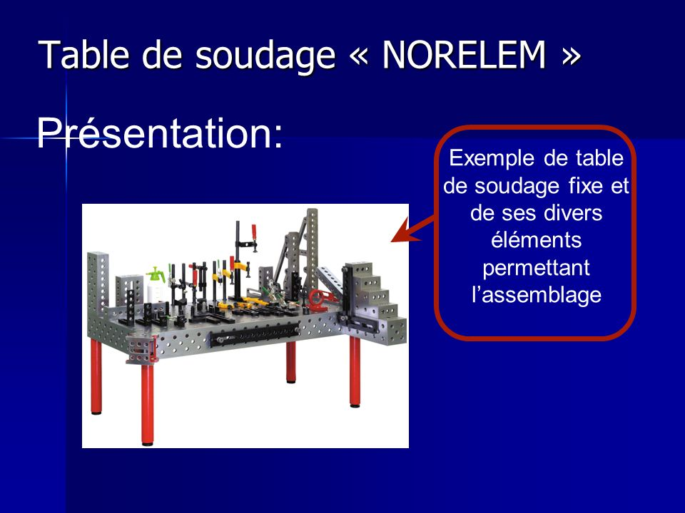 Table de soudage « NORELEM »