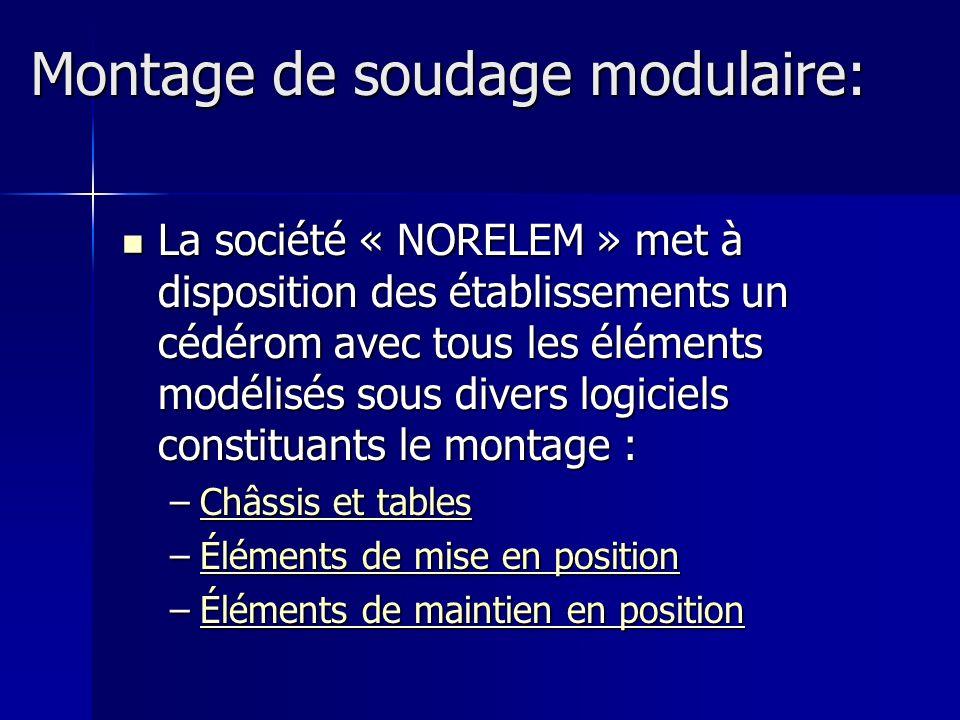 Montage de soudage modulaire:
