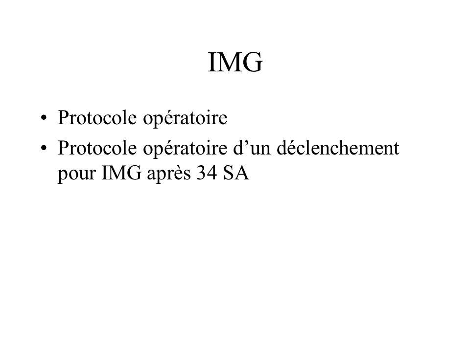 IMG Protocole opératoire