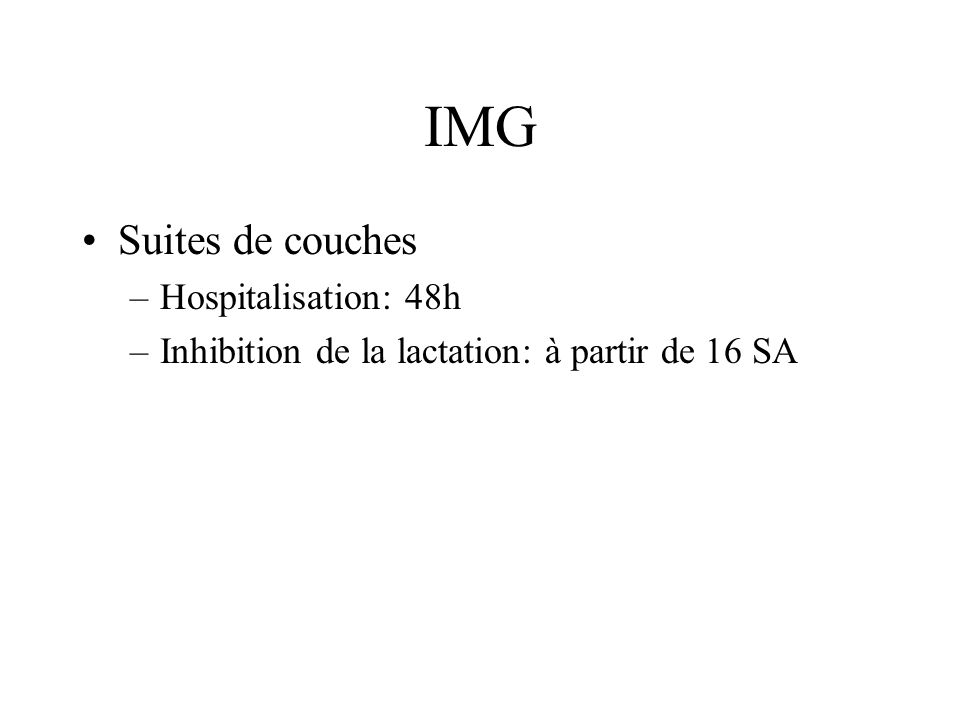 IMG Suites de couches Hospitalisation: 48h