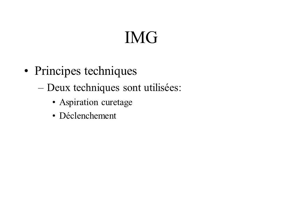IMG Principes techniques Deux techniques sont utilisées: