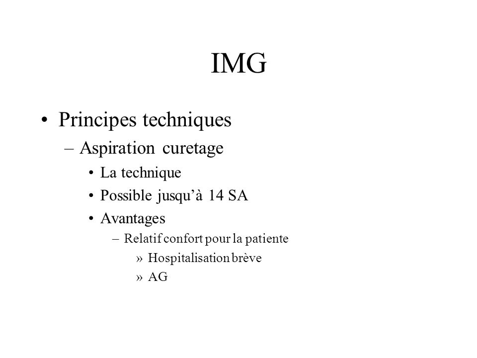 IMG Principes techniques Aspiration curetage La technique