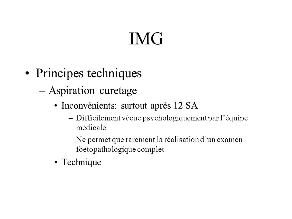IMG Principes techniques Aspiration curetage