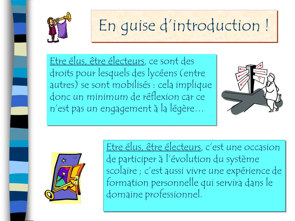 En guise d'introduction !