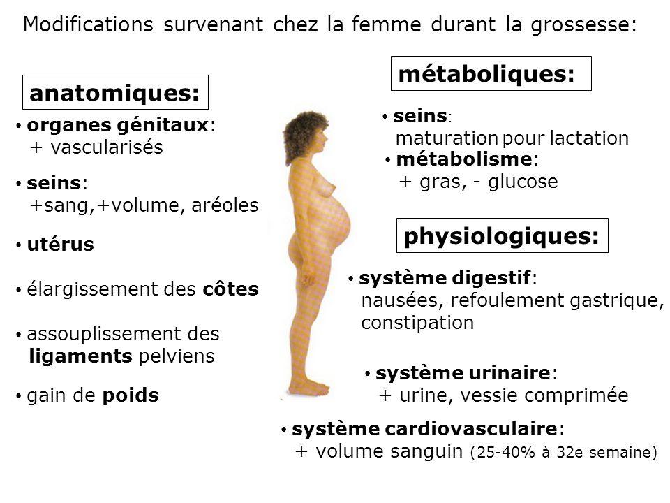 métaboliques: anatomiques: physiologiques: