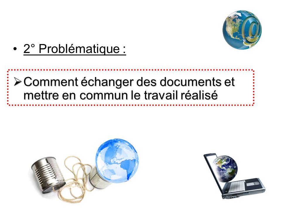 2° Problématique : Comment échanger des documents et mettre en commun le travail réalisé