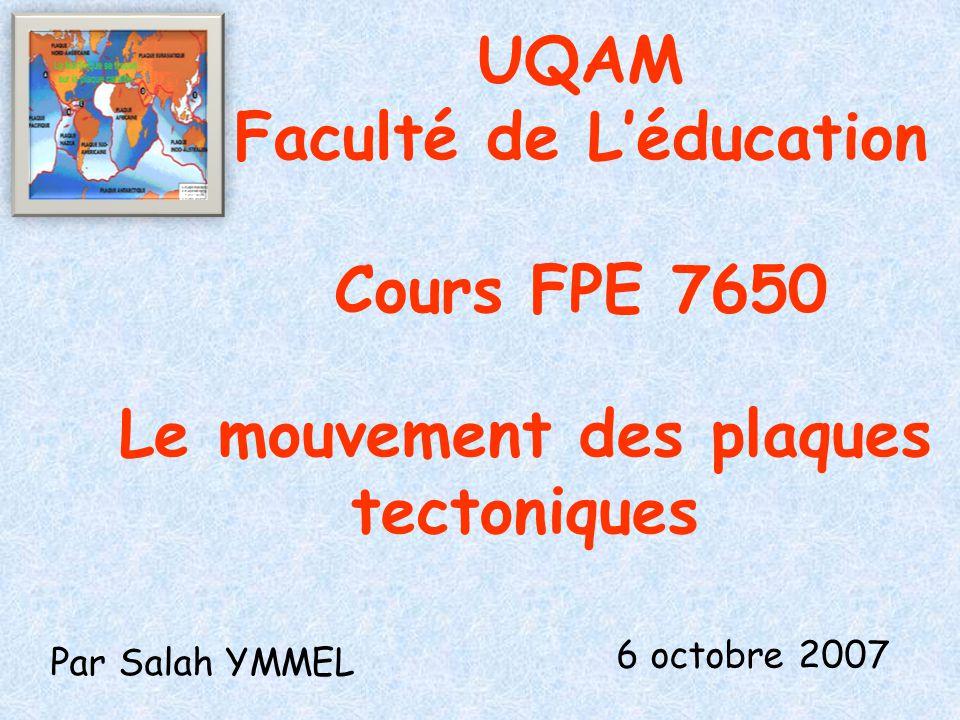UQAM Faculté de L'éducation Cours FPE 7650