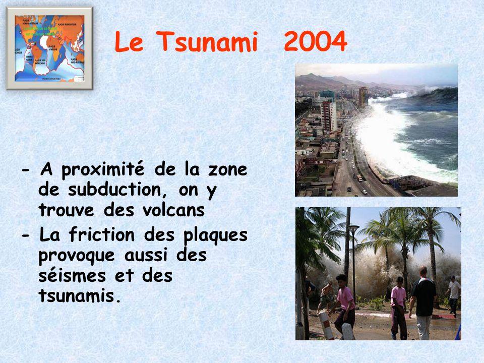 Le Tsunami 2004 - A proximité de la zone de subduction, on y trouve des volcans.