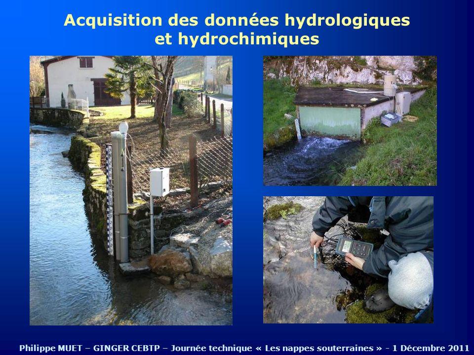 Acquisition des données hydrologiques et hydrochimiques