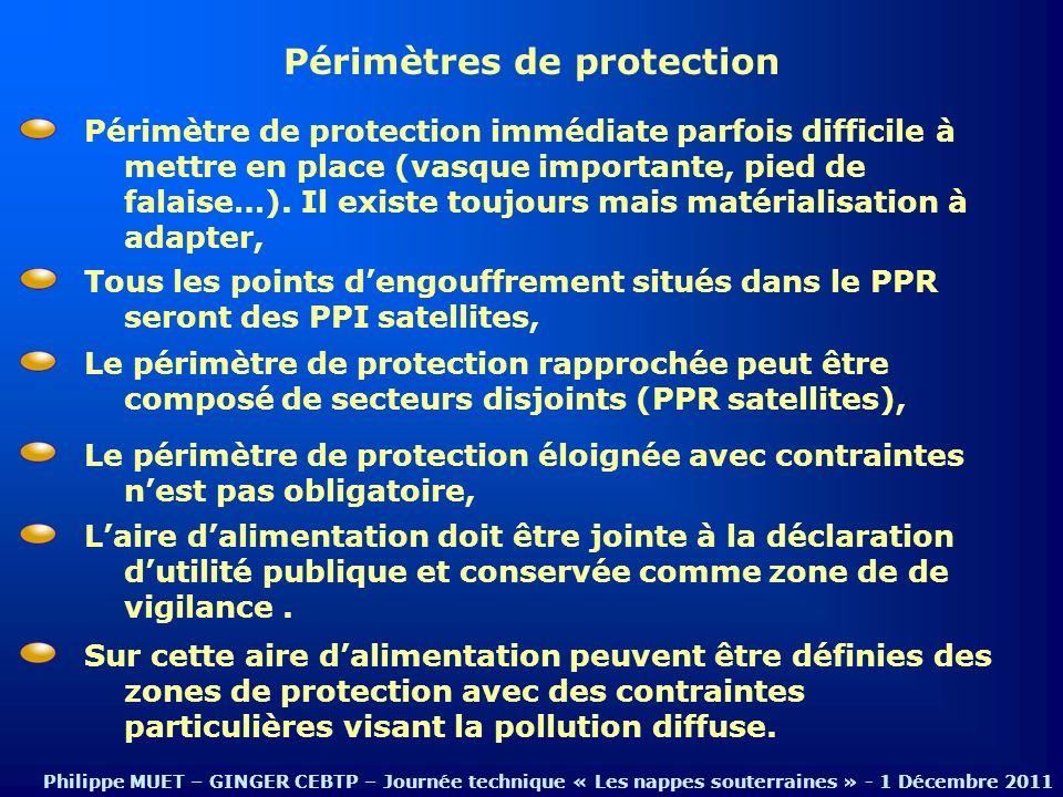 Périmètres de protection