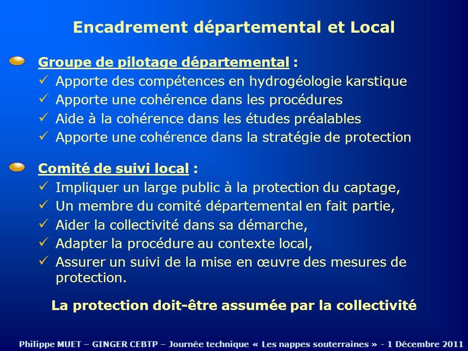 Encadrement départemental et Local