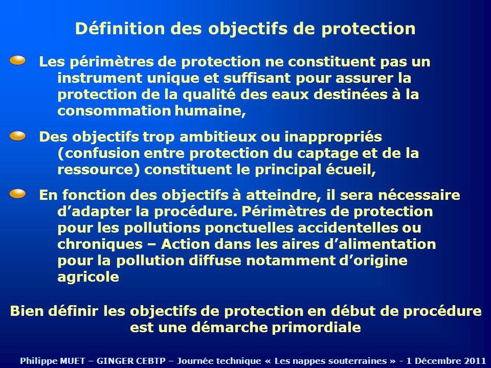 Définition des objectifs de protection