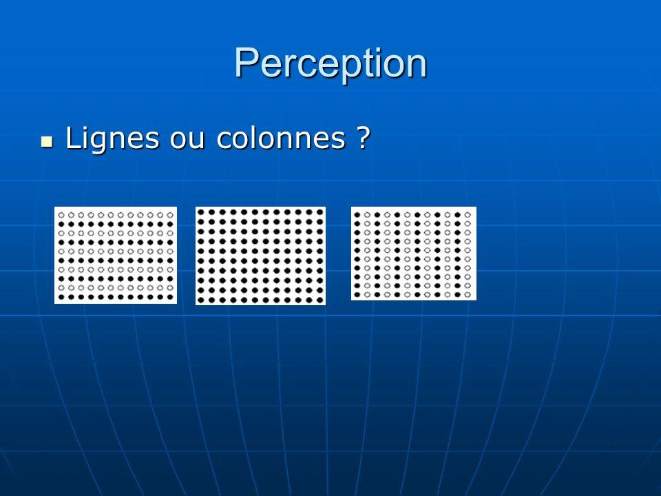 Perception Lignes ou colonnes
