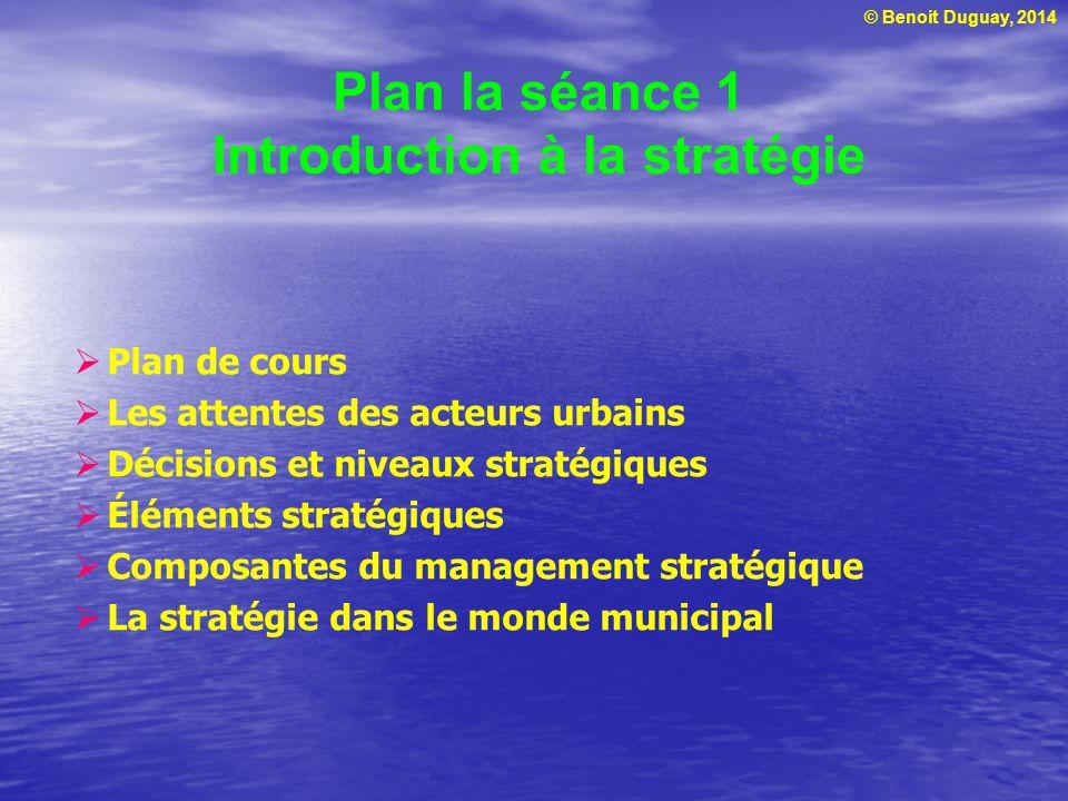 Plan la séance 1 Introduction à la stratégie