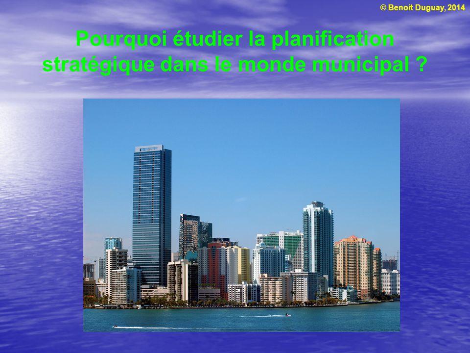 Pourquoi étudier la planification stratégique dans le monde municipal