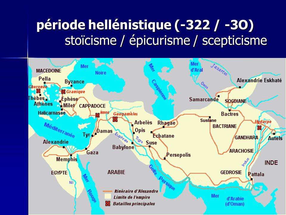 période hellénistique (-322 / -3O)