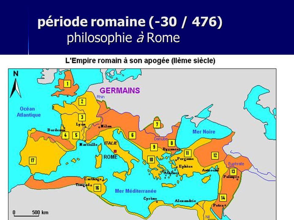période romaine (-30 / 476) philosophie à Rome