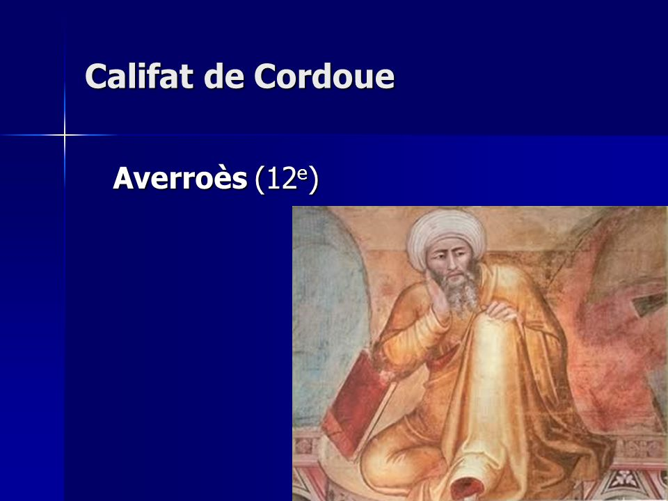 Califat de Cordoue Averroès (12e)