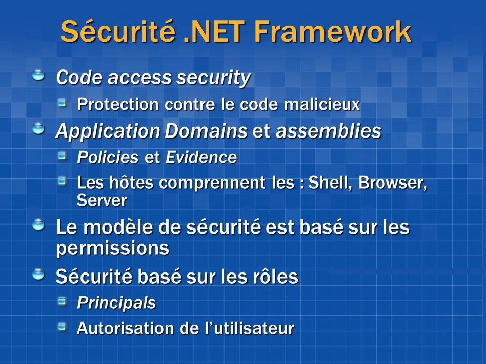 Sécurité .NET Framework