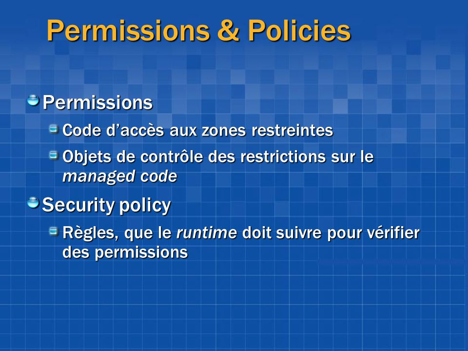 Permissions & Policies