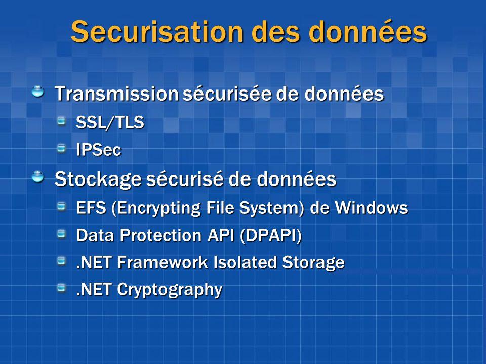 Securisation des données