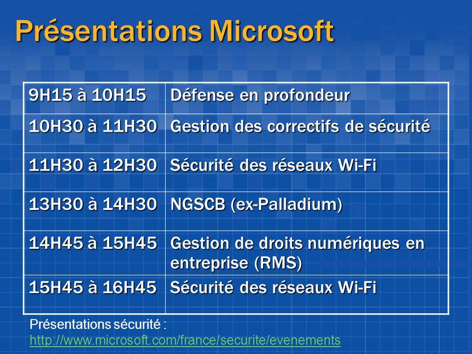 Présentations Microsoft