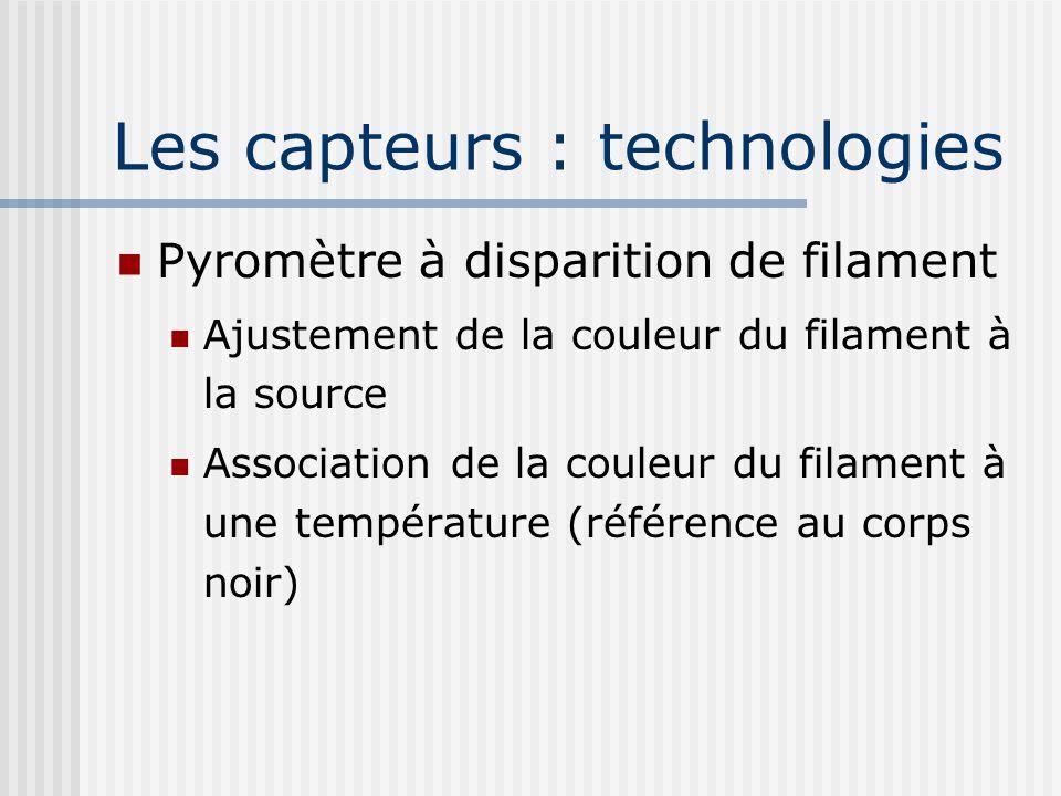 Les capteurs : technologies