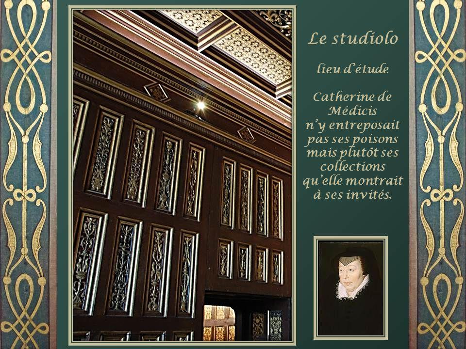 Le studiolo lieu d'étude Catherine de Médicis