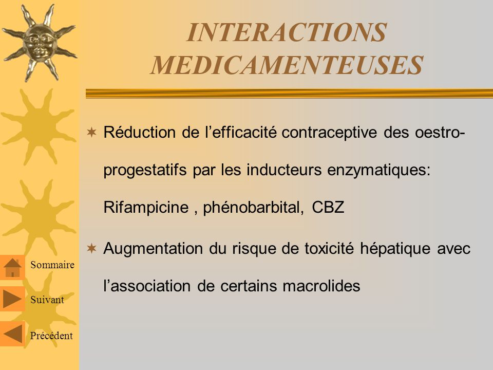 INTERACTIONS MEDICAMENTEUSES