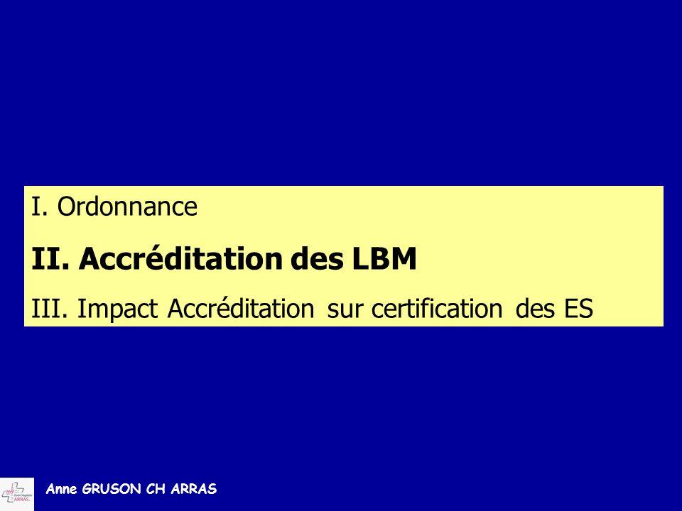 II. Accréditation des LBM
