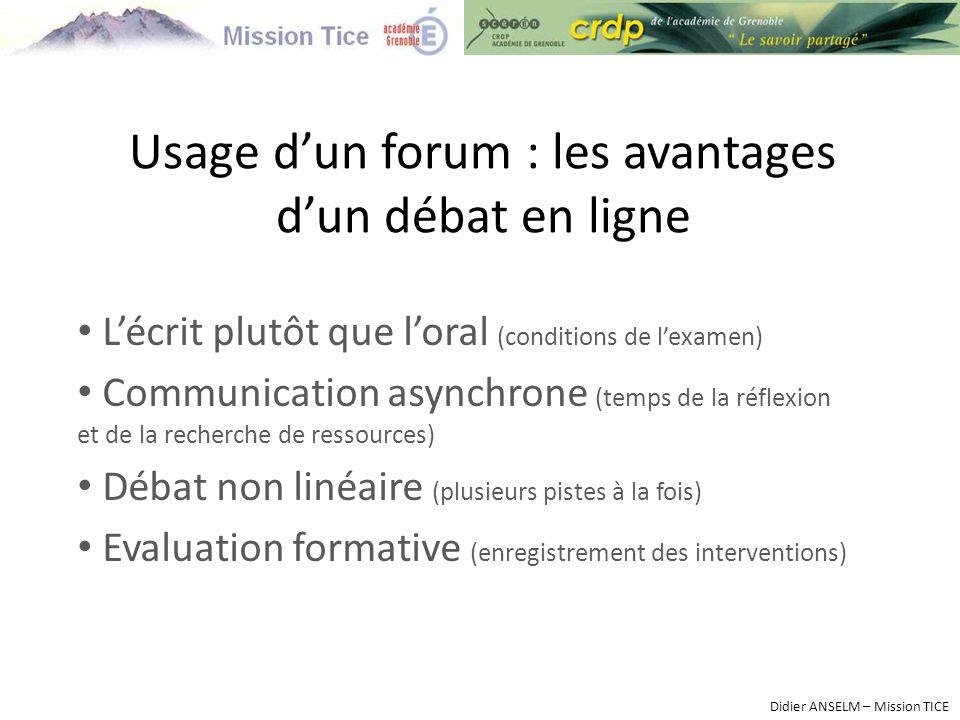 Usage d'un forum : les avantages d'un débat en ligne