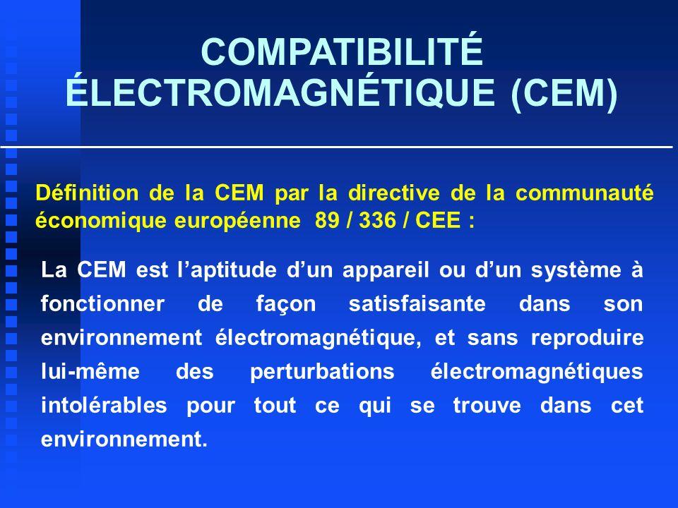ÉLECTROMAGNÉTIQUE (CEM)