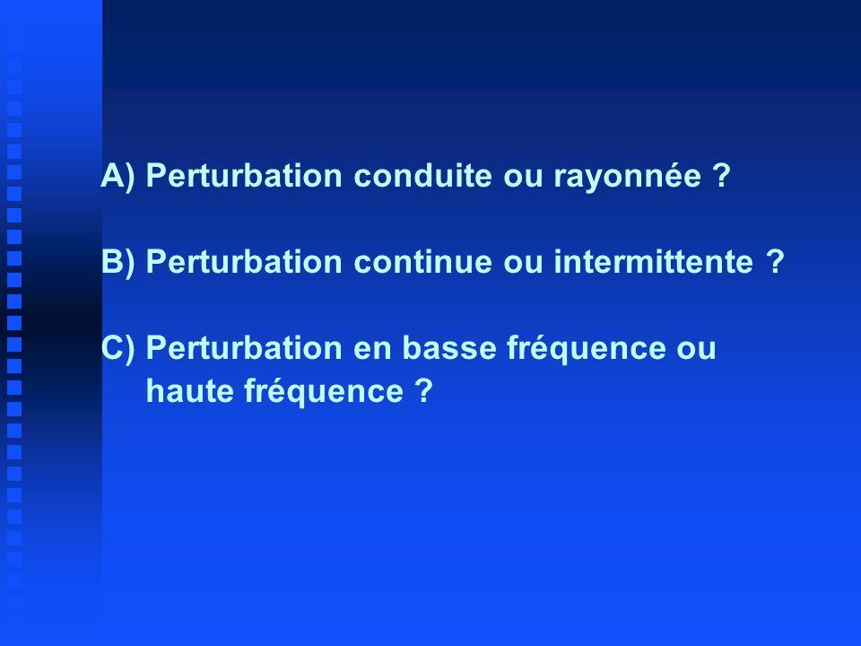 A) Perturbation conduite ou rayonnée