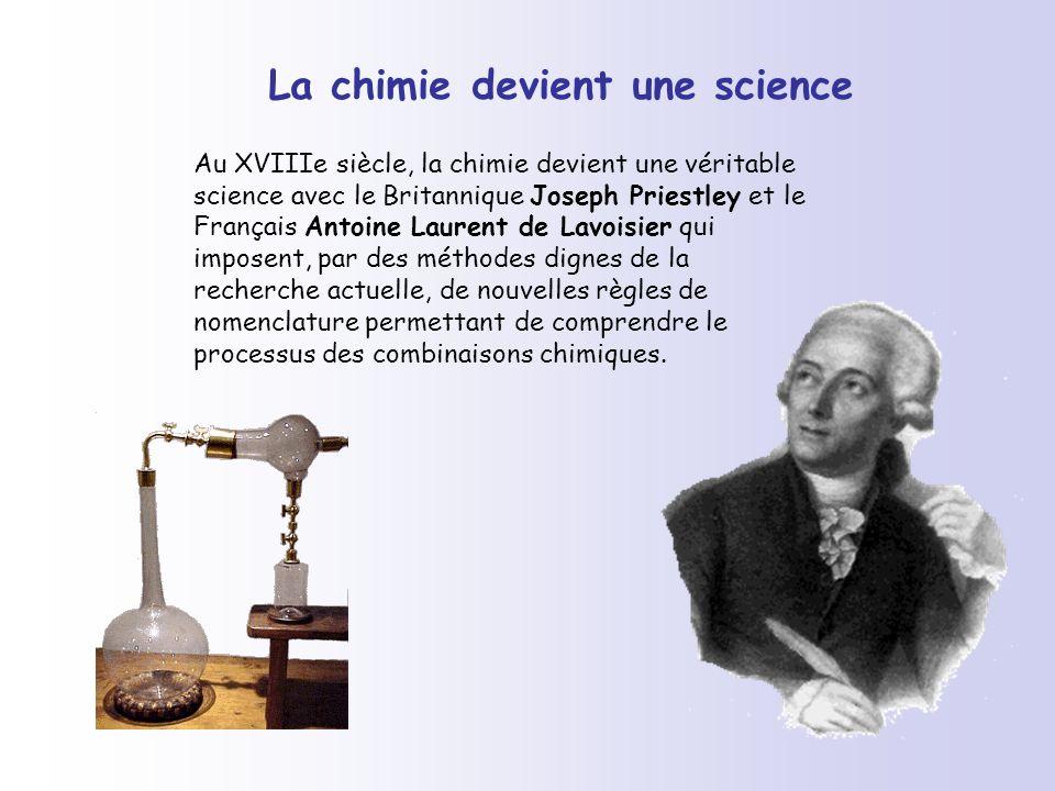 La chimie devient une science