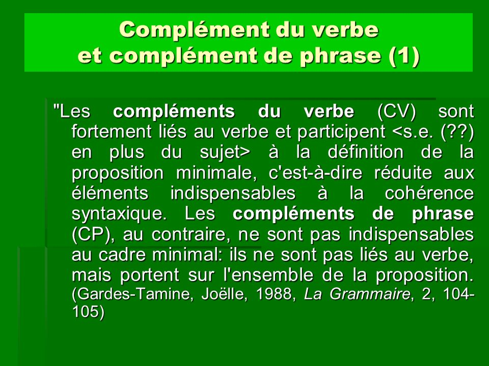 Notion de compl ment ppt video online t l charger for Portent definition