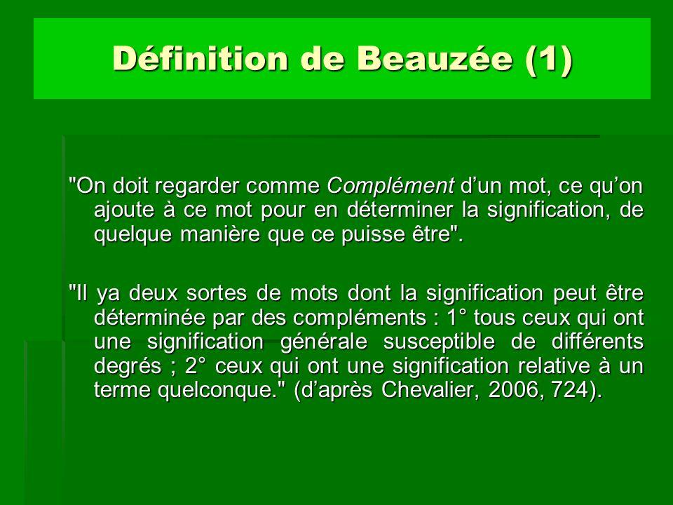 Définition de Beauzée (1)