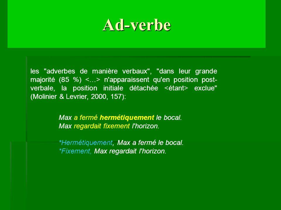 Ad-verbe