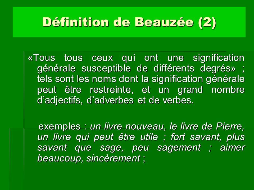Définition de Beauzée (2)