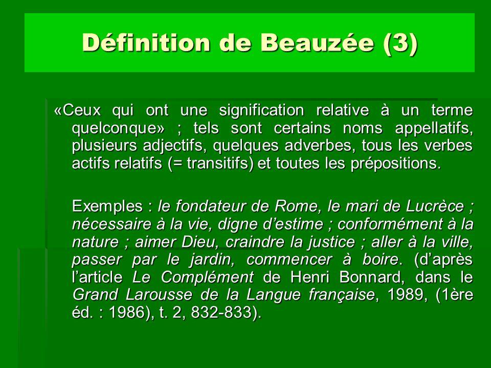 Définition de Beauzée (3)