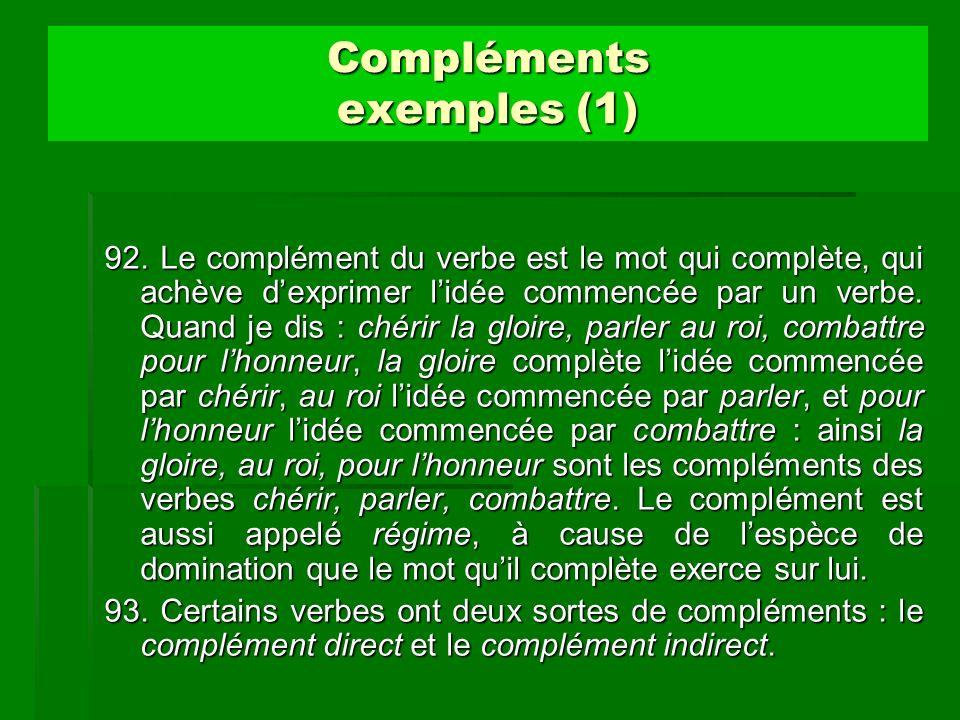 Compléments exemples (1)