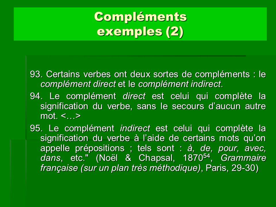 Compléments exemples (2)
