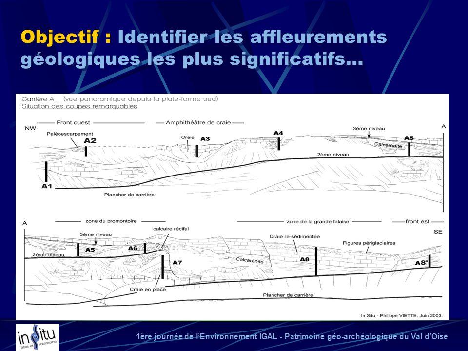 Objectif : Identifier les affleurements géologiques les plus significatifs…