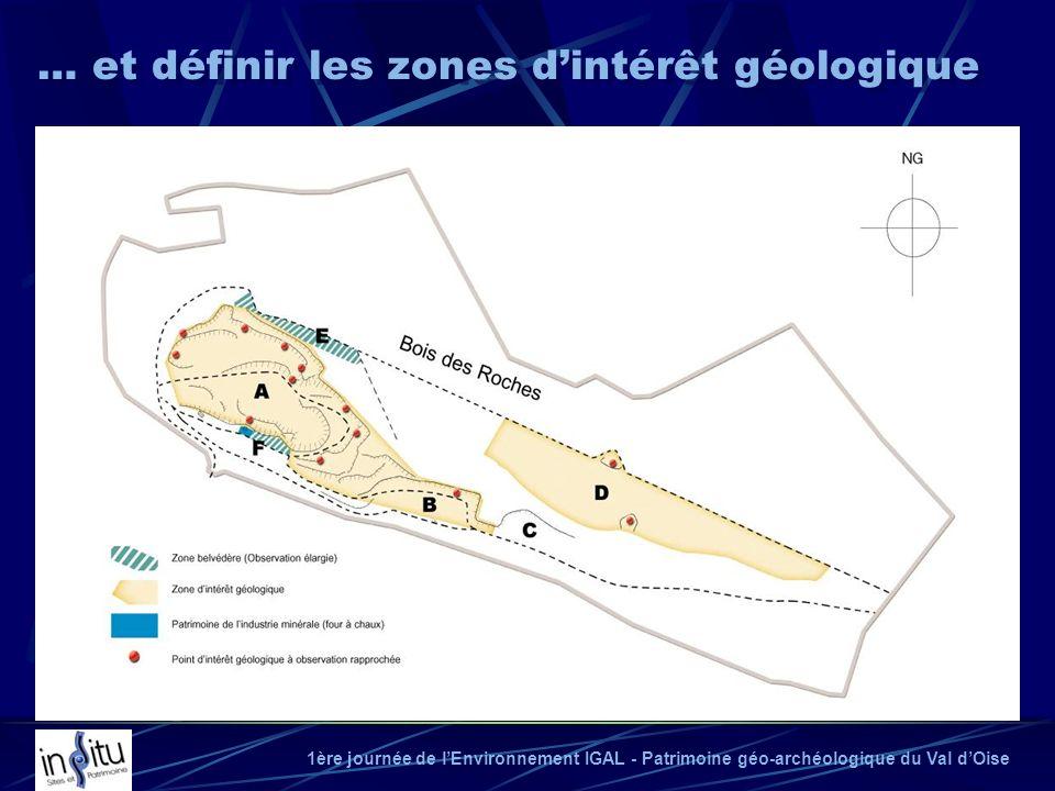 … et définir les zones d'intérêt géologique