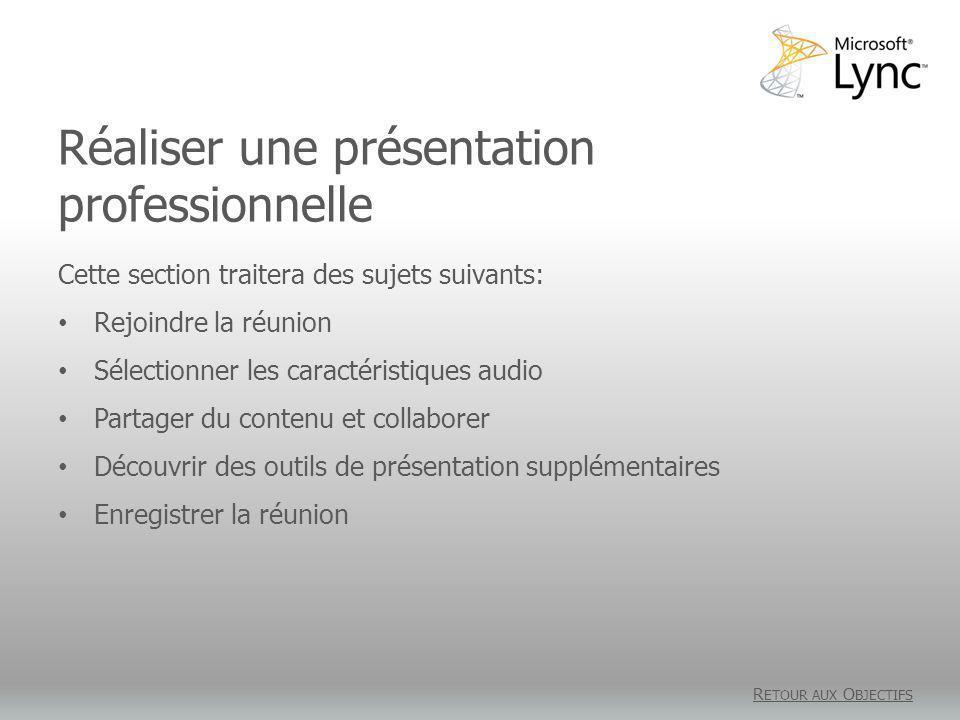 Réaliser une présentation professionnelle