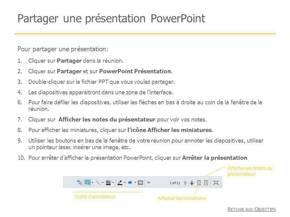 Partager une présentation PowerPoint