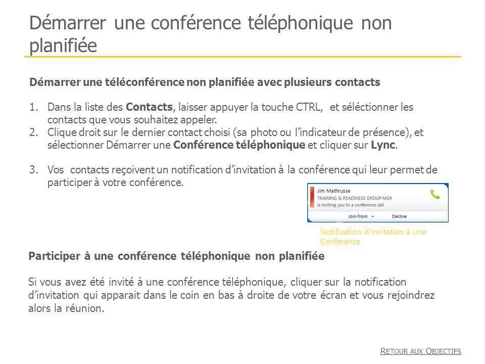 Démarrer une conférence téléphonique non planifiée