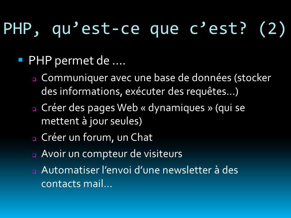 PHP, qu'est-ce que c'est (2)